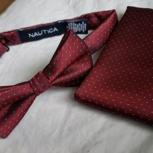 NIP Nautica Bowtie and matching Pocket Square